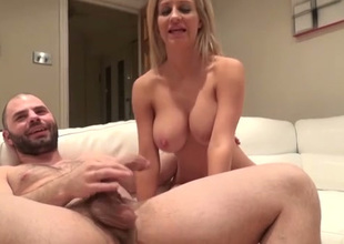 Big breasted sexpot Sienna Day rides her play buddy's prick vigorously