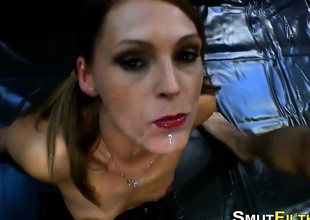 Cum gulping european slut