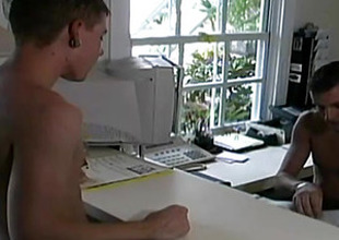 Hot Men Tease Each Other And Hook Up In A Office