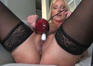 The more powerful the sextoy the harder she cums