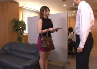 Japanese chick with perfect tits and her time with the slutty dude