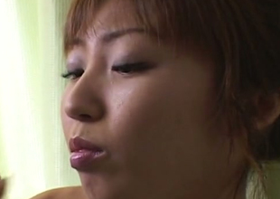 Beautiful Japanese bae sucking hard dick in arousing sex video