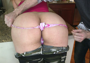 Irresistible whore with great ass Carmen Ross lets her fellow explore it