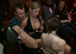 Youthful Sensi Pearl gets tied up and fucked in public