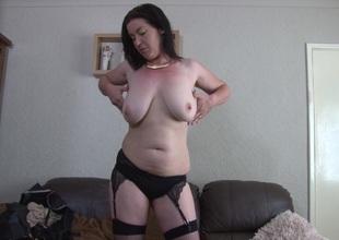 Mommy dressed up like a slut to excite u as she masturbates