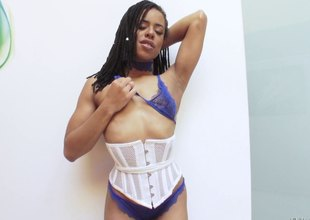 Radiant Kira gets her holes toyed ahead of a interracial pounding in pov