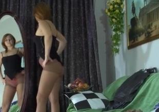 Megan videotaped while wearing pantyhose