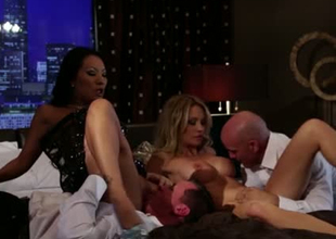 Goddess like sexpots fuck passionately in exciting group sex video