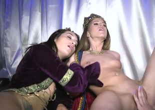 Filthy and horny princesses fucking impure at the Halloween party