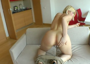 Pleasant Cat puts her soft lips on Rocco Siffredis cock, dick, pole, meat pole, meatrock hard love stick