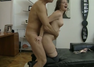 Rocco Siffredi stretches gorgeously sexy Paula As mouth with his beefy sausage to the limit