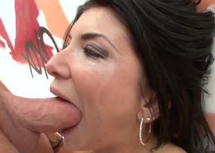 Romi Rain with juicy melons gets skull drilled with zero mercy by slutty stud