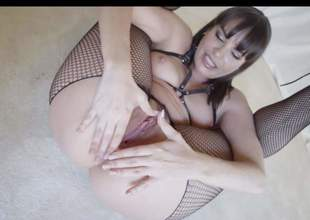 Hot MILF Dana Dearmond in bottomless pantyhose widens her buttocks and fingers her flexy asshole for your viewing pleasure. Playful woman with natural boobs cant keep her fingers off her hot butt