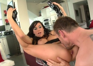 Gia DiMarco finds herself blowing Mark Ashleys erect boner in advance of she gets screwed in her bum