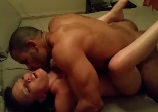 Beautiful wife blacked in front of spouse