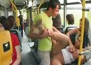 Laura Lion drilled on the bus