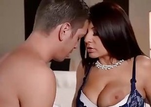 Busty Spanish Milf cures Hangover with 2 Cocks