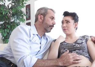 Hot hottie Aria Alexander makes her dad feel better