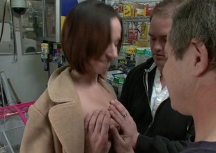 Demeaning gazes from the public puts slutty whore to shame