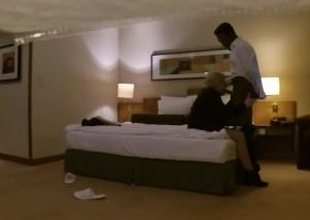 Leaked Hillary Clinton's hotel sex tape with dark chap