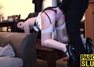 Lustful Sophie Garcia receives her pussy slammed by guys fat dick