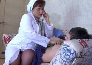 Plunp nurse with wide ass & dude
